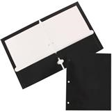 Folder, Poly, 2 Pocket, 3 Hole, Black